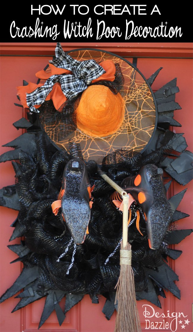 Fabulous halloween witch crashing decoration design dazzle for 3 witches halloween decoration