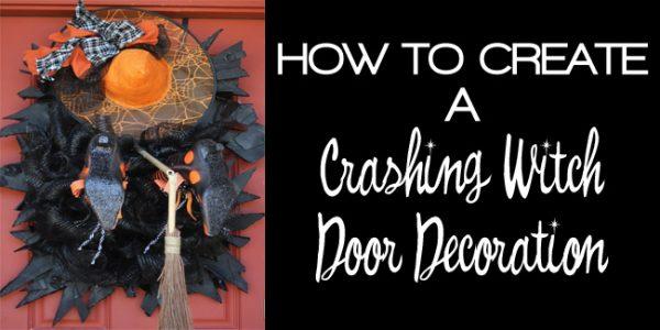 crashing witch door decoration fi