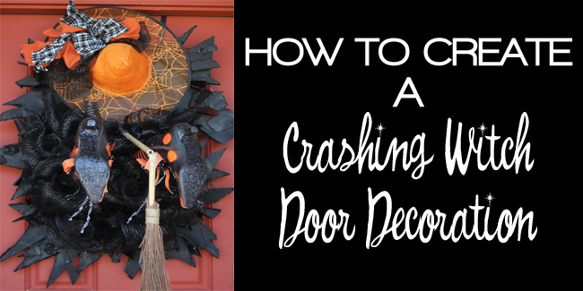 crashing witch door decoration fi