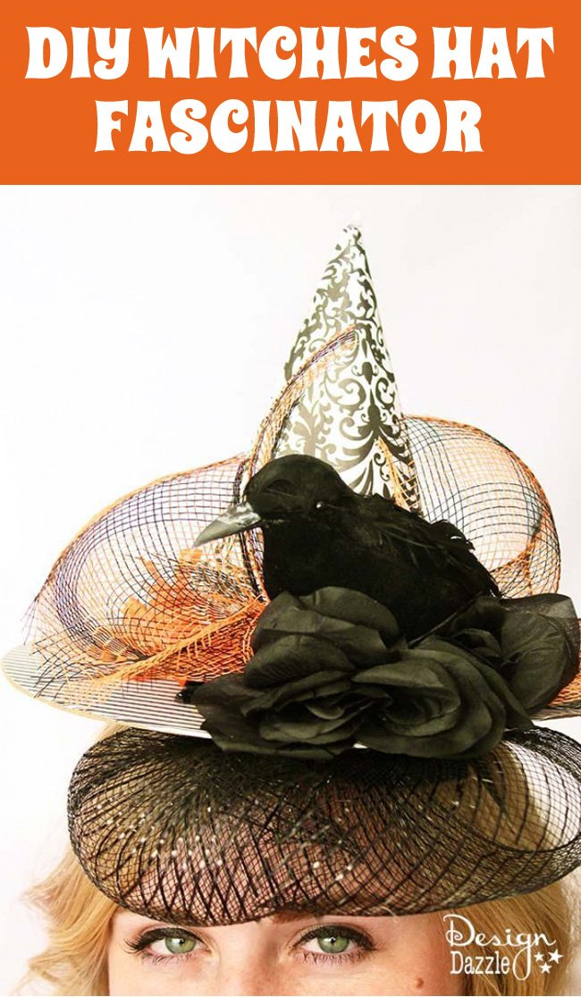 Learn how to create this fun witches hat fascinator project - perfect for those last minute Halloween costume additions! #halloweencostume #halloween #witcheshat