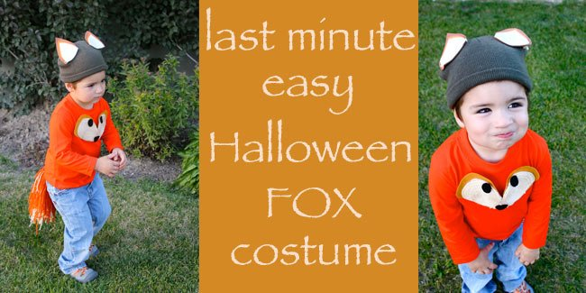 last minute easy Halloween fox costume by Design Dazzle