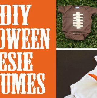 DIY Halloween Onesie Costumes