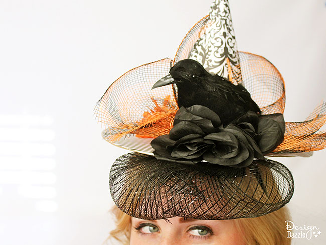 DIY wiitches hat fascinator