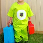 """Last Minute"" Mike Wazowski Inspired Costume – with free printable!"