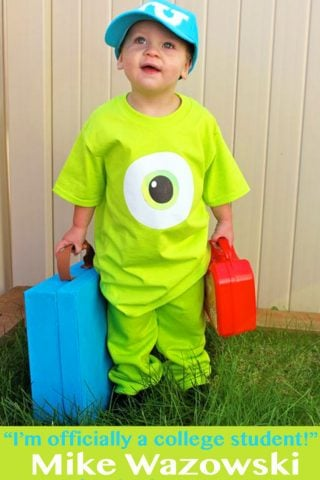 """""""Last Minute"""" Mike Wazowski Inspired Costume – with free printable!"""