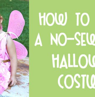 No Sew Fairy Halloween Costume