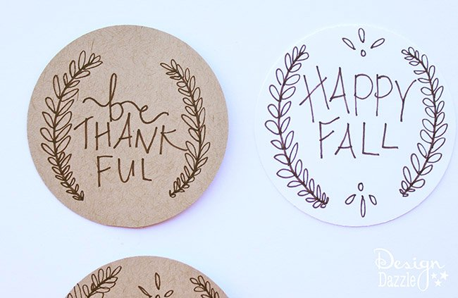 Create a simple, beautiful gift to celebrate fall with friends, family, and neighbors. How to on Designdazzle.com! #happyfall #fallgifts