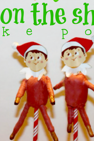 elf on the shelf cake pops