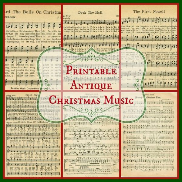pritnable christmas hymns