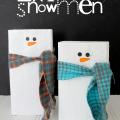 2x4 Snowmen Tutorial at GingerSnapCrafts.com #gingersnapcrafts #tutorial