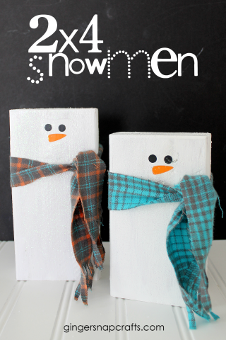 2×4 Snowmen Kid Craft {tutorial}
