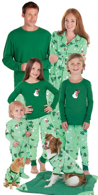 Because It's Not Christmas if the Whole Family Isn't Wearing Matching PJs Storm the holidays with coordinating sleepwear for the whole family. by Courtney Thompson.