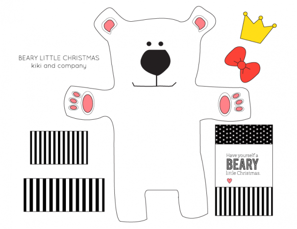 Beary Little Christmas money or gift card holder