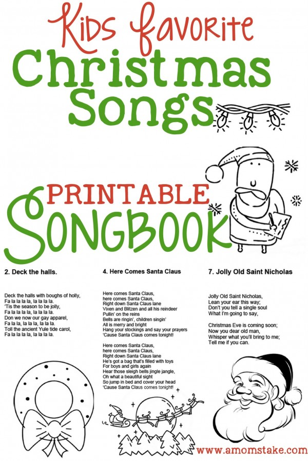 printable Christmas songbook