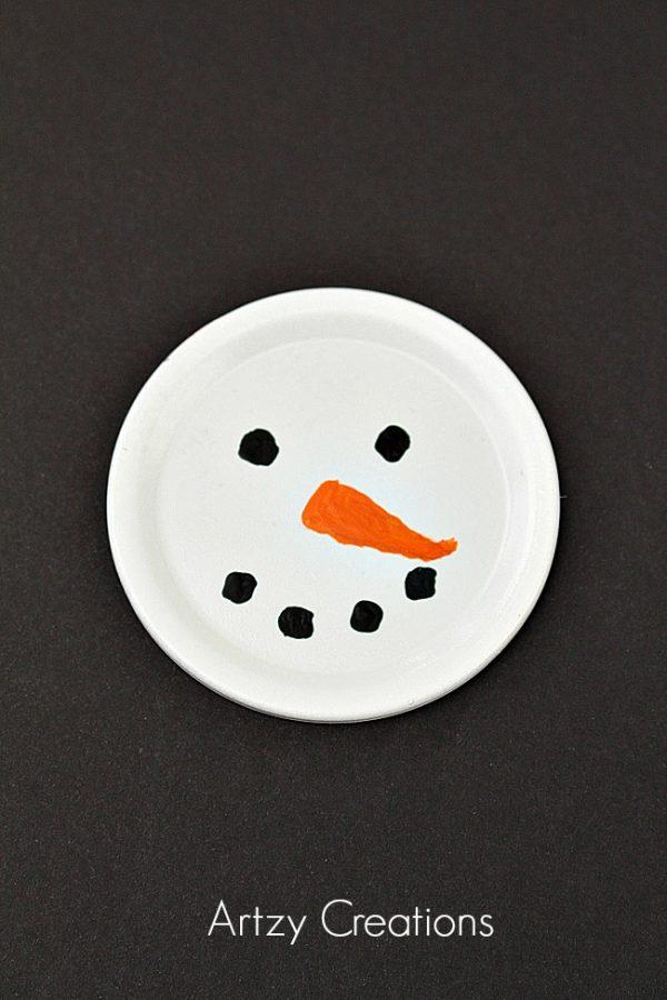 Mason-Jar=Lid=Snowmen-Artzy Creations 1