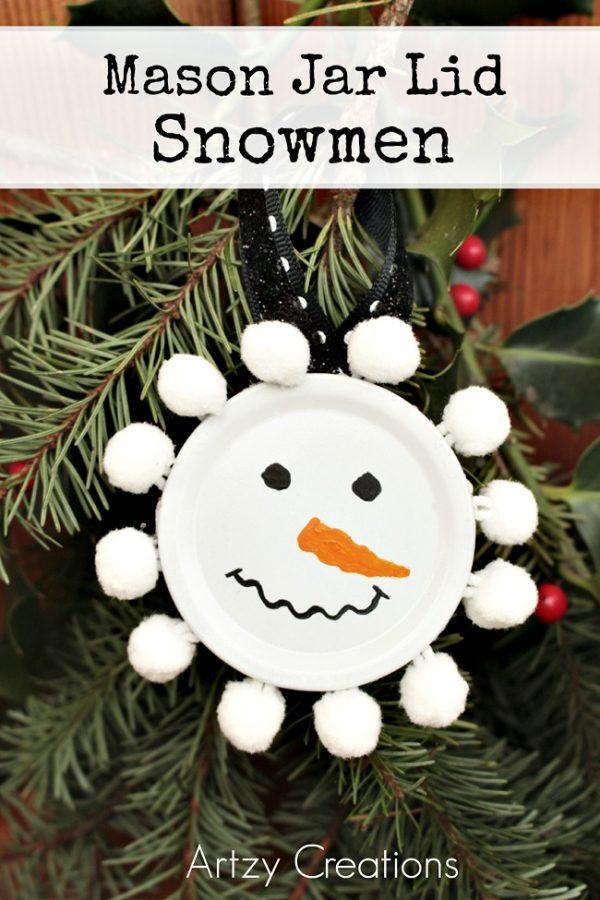 Mason-Jar=Lid=Snowmen-Artzy Creations 2