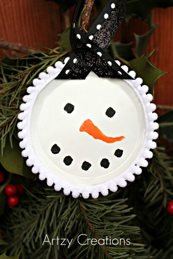 Mason-Jar=Lid=Snowmen-Artzy Creations 3