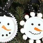 Mason Jar Lid Snowmen
