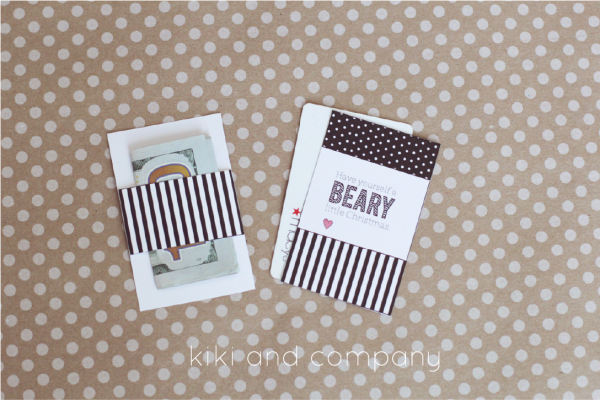 Printable Christmas Gift Card or Money holder from kiki and company. Love these.