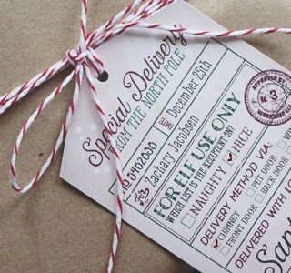 Santa's Special Delivery Gift Tags