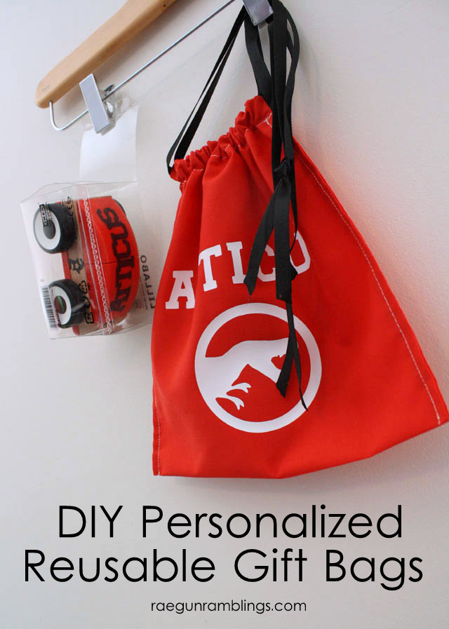 DIY Personalized Christmas Gift Bag Tutorial- Featured on Design Dazzle