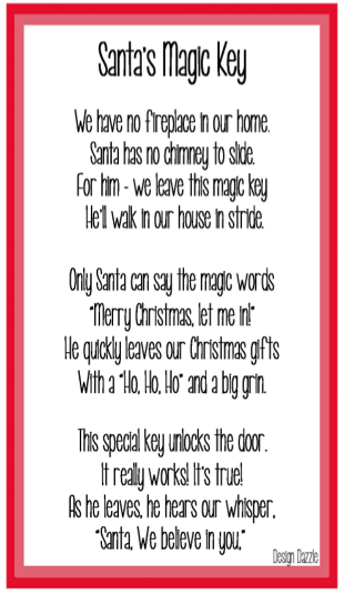 Santas magic key poem by Toni Roberts