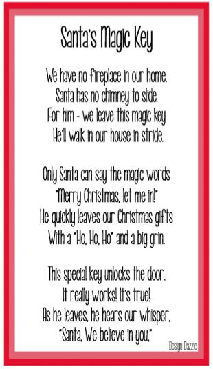 Magic Key For Santa Free Printable Design Dazzle