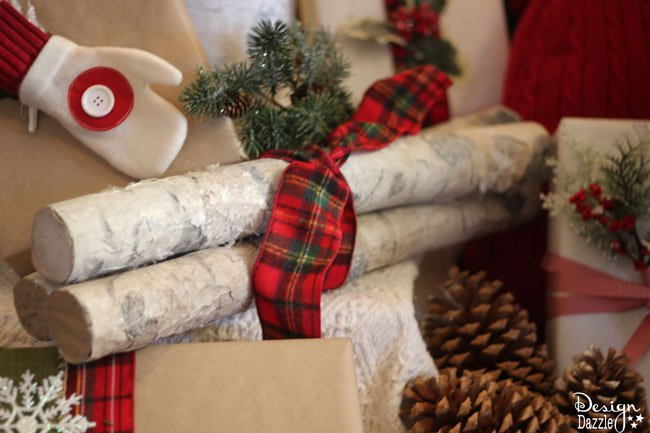 Make Pool Noodles Into Faux Birch Logs Find The Full Tutorial At Designdazzle