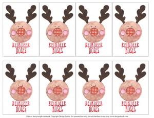 Reindeer Noses - Printable Tags for Christmas Gifts #christmastags #freeprintables #neighborgifts