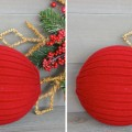 repurposed sweater ornaments using dollar store bounce balls as the form. Design Dazzle