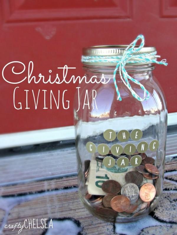 christmas giving jar