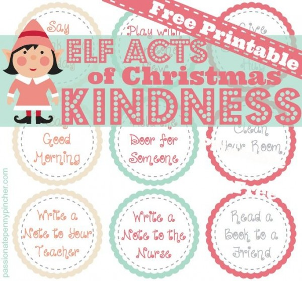 http://passionatepennypincher.com/2013/11/free-elf-acts-of-christmas-kindness-printable/#