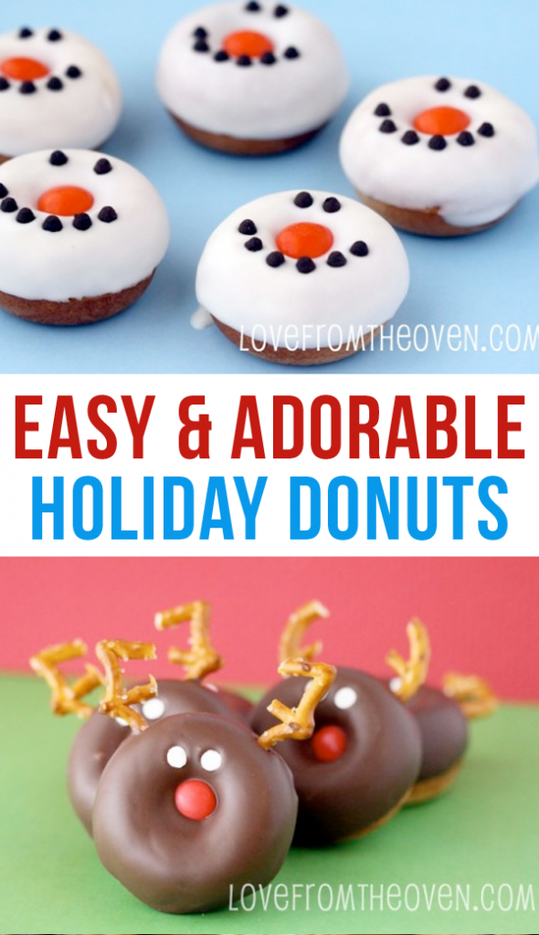 Cute and simple reindeer and snowman cookies your kids will love!