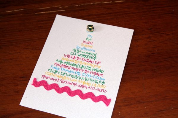 Festive Elf Workshop Party Invite for a December Birthday!