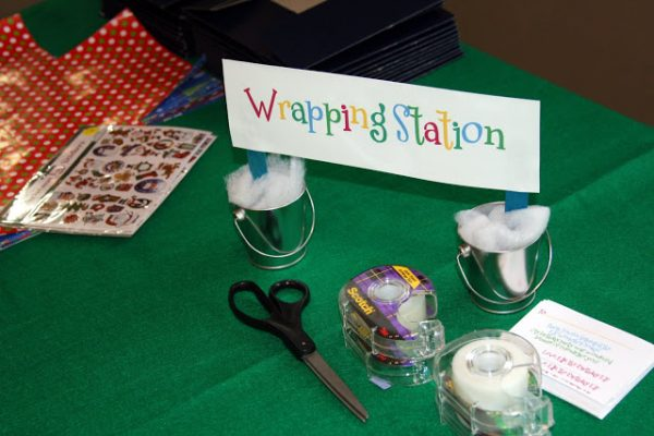 Wrapping Station for Elf Workshop!