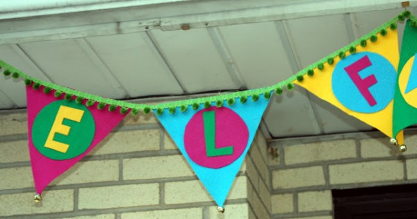 Elf Banner for Elf Workshop Party!