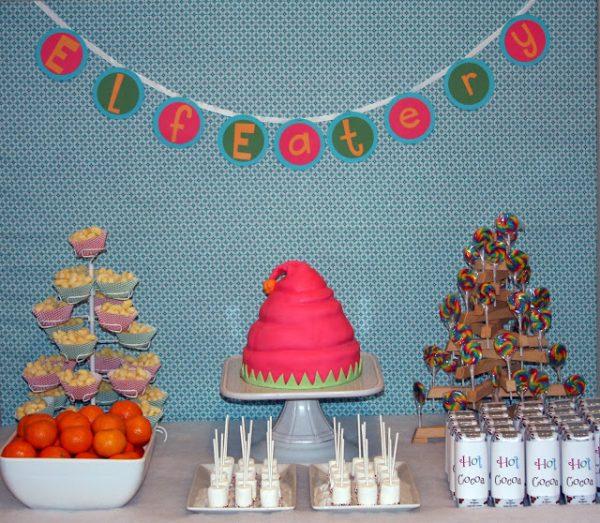 Elf Workshop Party dessert table! ELF EATERY!