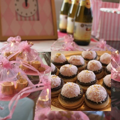Pink and Gold DIY New Year's Eve Party just for the kids featured on Design Dazzle