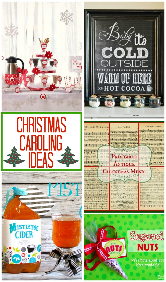 Fun and festive Christmas Caroling Ideas for the whole family to enjoy! from Design Dazzle