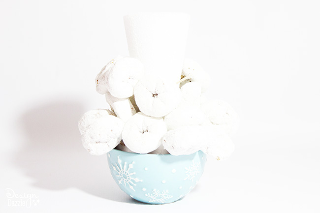 "Make a cute ""free snowball!"" pile with #hostessholiday! Your kids will love your snowman party. See it on Design Dazzle."