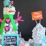 Edible Snowman Centerpiece