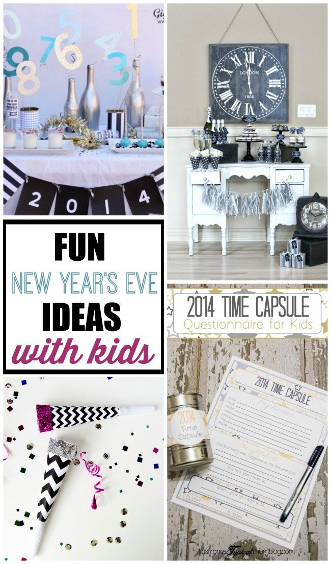 Get some really fun New Year's Eve ideas for kids to  have your own awesome party at home!