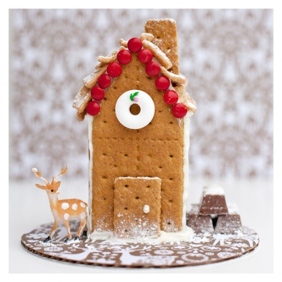 Make gingerbread houses with graham crackers for a fun activity with the kids!