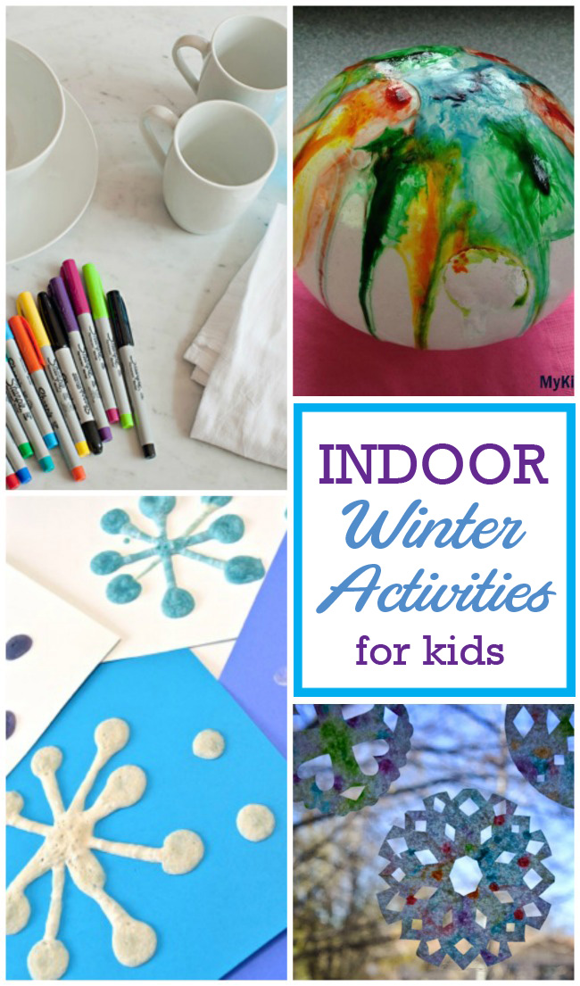 Tons of awesome indoor winter activities for kids to beat the winter boredom