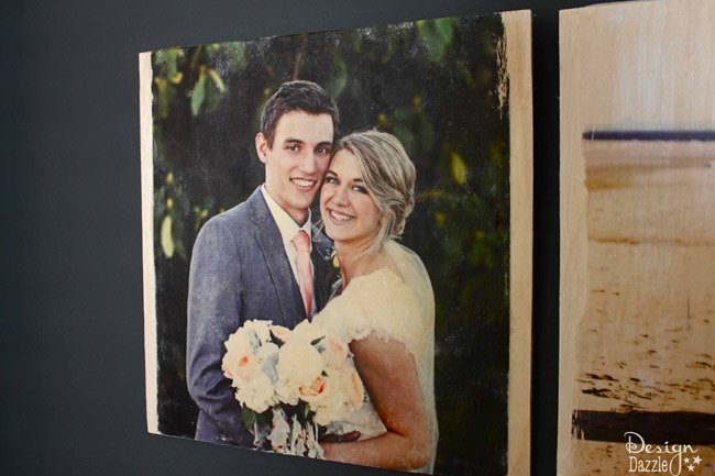 DIY Wood Transfer Photo Gift Idea with a Cricut made Gift Sack by Toni Roberts