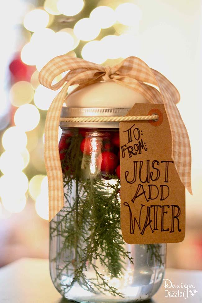 Christmas Mason Jar Candle Tutorial U Create
