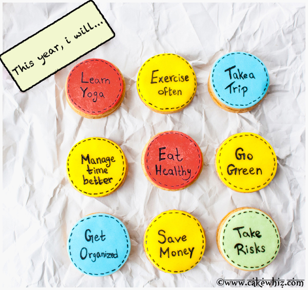 New Years Resolution cookies - a fun activity for the kids