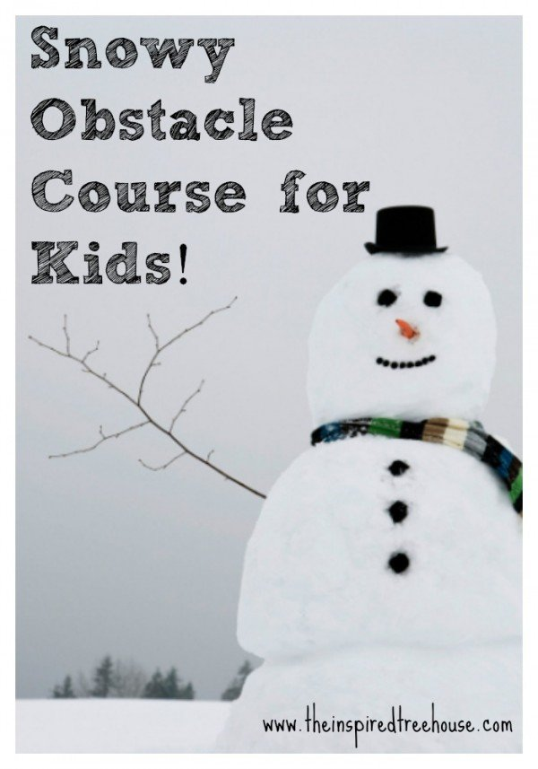 Create a snowy obstacle course for the kids - they'll have a blast!