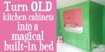 turn old kitchen cabinets into a magical built in bed fi