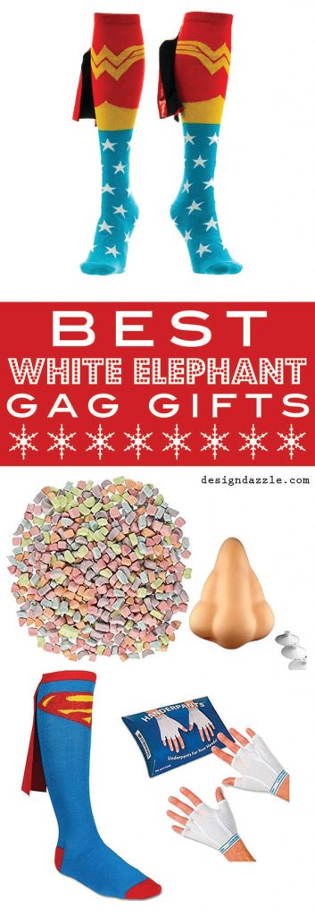 White Elephant Gift Ideas - Check out the collection on Design Dazzle